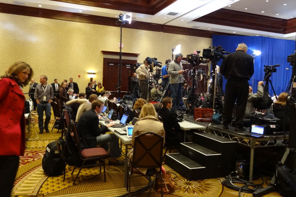 Media at RI Romney Town Hall in April